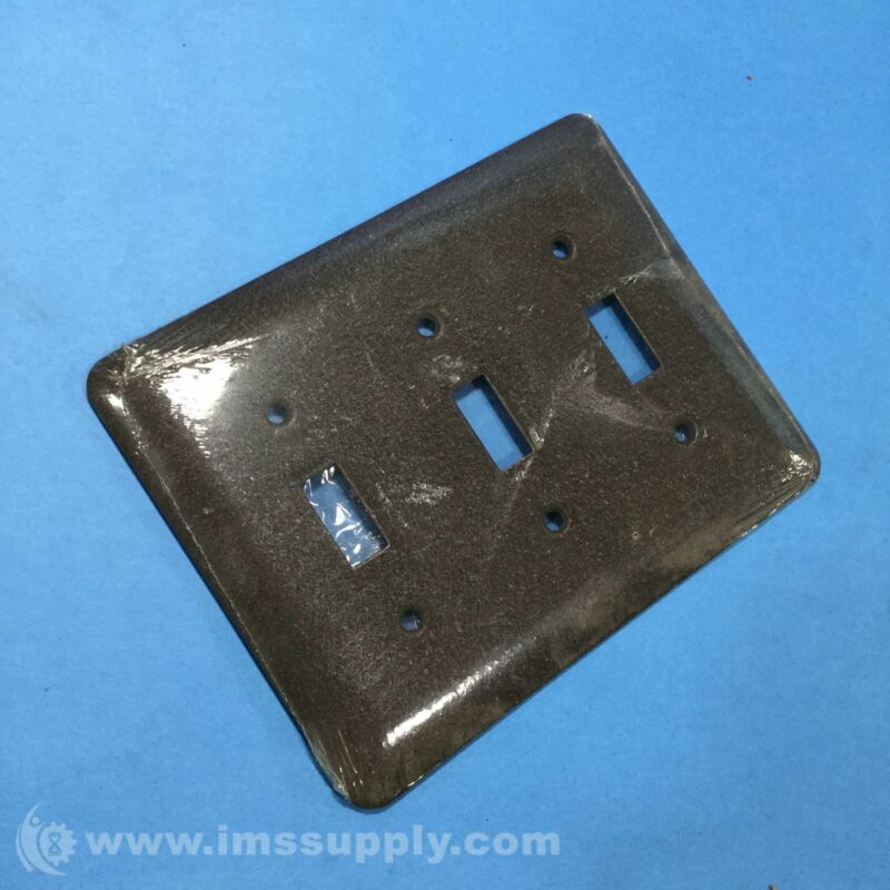 Mulberry Toggle Switch Wall Plate, 3 Gang, 3 Toggle Switch, Brown FNFP