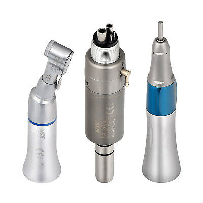 Dental Slow Low Speed Handpiece Contra Angle Straight Air Motor 4 Hole Kit