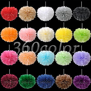 10-Tissue-Paper-Pom-Poms-Flowers-Wedding-Party-Birthday-Decoration-6-034-8-034-10-034-15-034