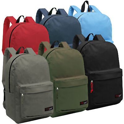 Wholesale Backpacks for Kids - Bulk Case of 24 MGgear Assorted Color Book - Character Backpacks Wholesale