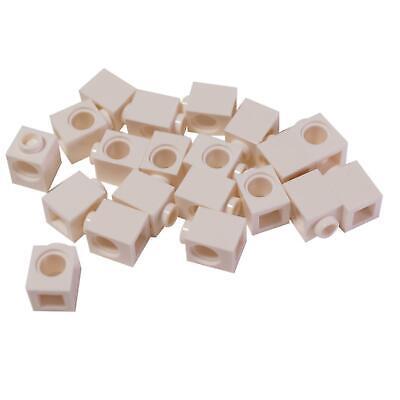 20 NEW LEGO Technic, Brick 1 x 1 with Hole White