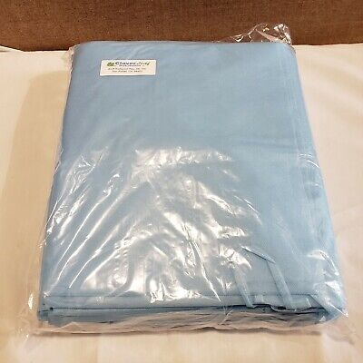 10pack Isolation Gown With Knit Cuff Disposable Dental Medical Ppe - Blue