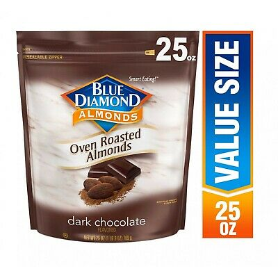 BLUE DIAMOND ALMONDS OVEN ROASTED DK. CHOCOLATE ALMOND -25oz PACK ()