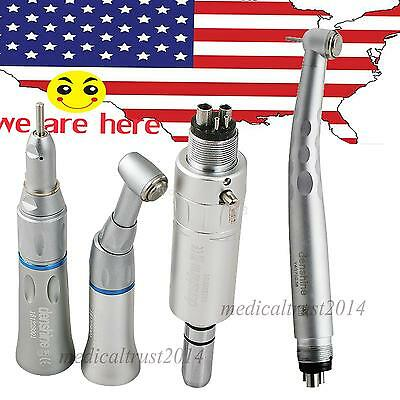 4hole Push Low Speed Kit 3 Spray High Speed Dental Handpiece Set Fit Nsk Turbine