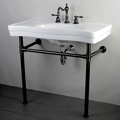 36 Pedestal Sink : ... Vintage 36-inch Oil Rubbed Bronze Pedestal Bathroom Sink Vanity eBay