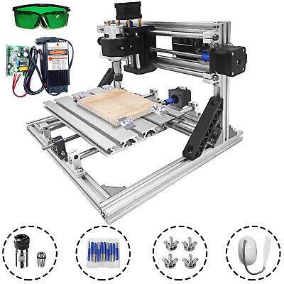 3 Axis Cnc Router Kit 24x18cm Diy Laser Engraver 5500mw Laser Moudle Pcb Usa