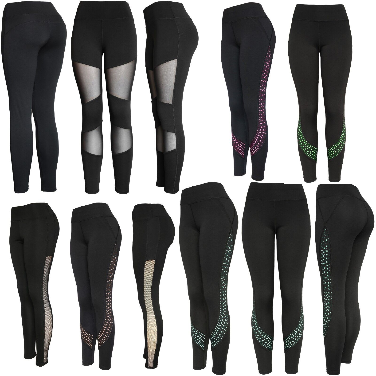 Workout Mesh Inserts Leggings Pants Clothing, Shoes & Accessories