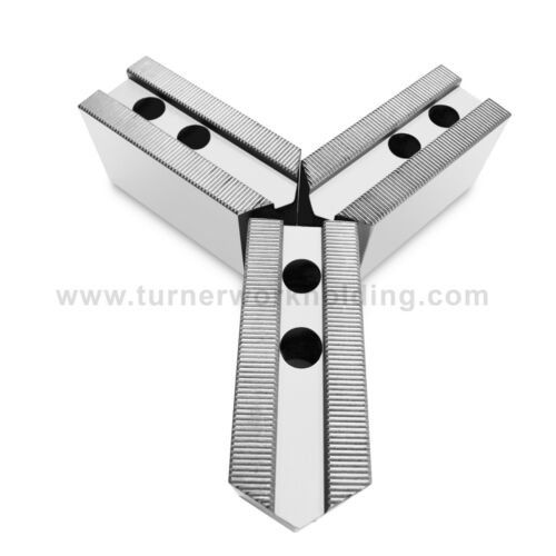 """15"""" Howa Lathe Chuck Steel Pointed Serrated Soft Jaws, 3 mm x 60, ht -2.5""""- 3pcs"""