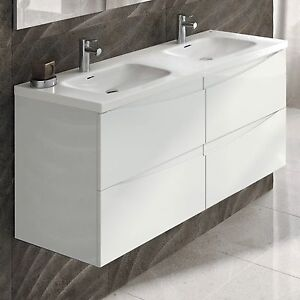Eviva Rome Luxury Modern Double Bathroom Vanity Porcelain Sink 48
