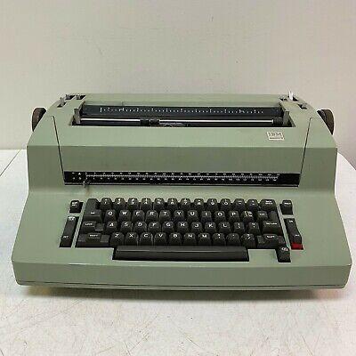 Vintage Ibm Selectric Ii 2 Correcting Typewriter Green Locked Up