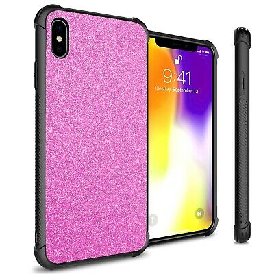 Hot Pink Glitter Design Slim Fit Hard Phone Cover Case for Apple iPhone XS Max Hot Pink Design