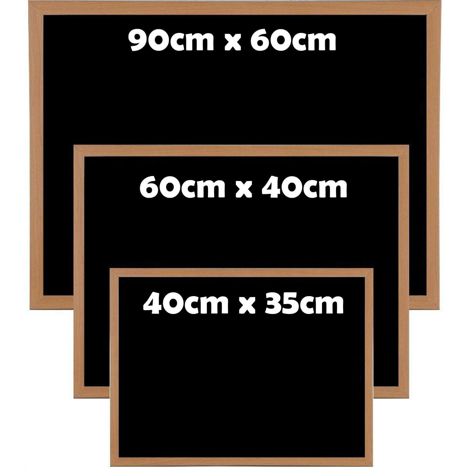 Blackboard Chalk Large 90x60 Wall Mounted Magnetic Memo Home Chalkboard For Kids For Sale Ebay