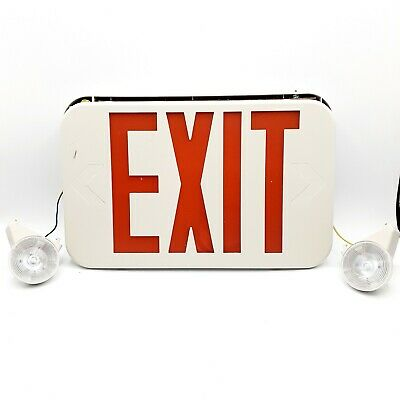 Red Led Exit Sign Ul-listed Emergency Light - Dual Led Lamp Abs Fire Resistance