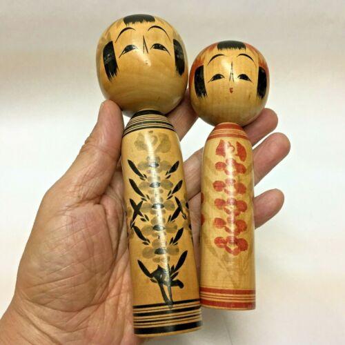 2 Kokeshi Dolls Soekawa-Hajime(1920-1996) Japan Antique No.SE58