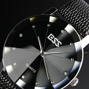 Classic-Mans-Steel-Quartz-Black-Jewel-Style-Military-Men-Mens-Sport-Wrist-Watch