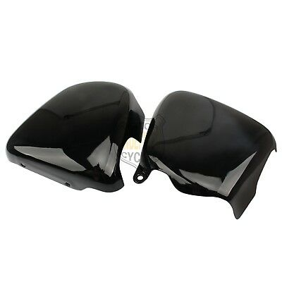 2pcs Gloss Black Battery Side Fairing Covers For Triumph Bonnevil T100 Scrambler