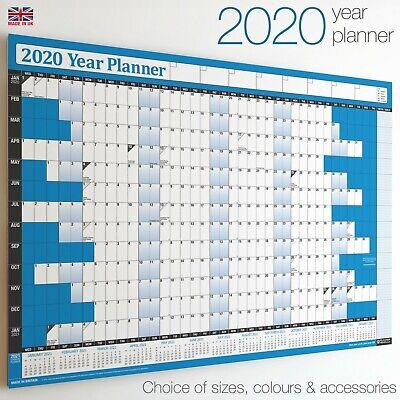 2020 Year Planner Wall Chart+Calendar+Holidays✔Staff✔Office✔WIDEST RANGE ON EBAY