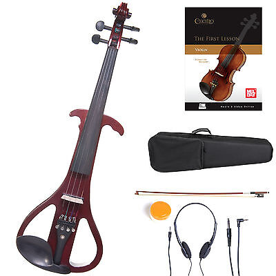 Cecilio Size 4/4 Electric Violin Ebony Fitted ~ Red Style4