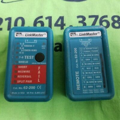 Ideal 62-200 Linkmaster Ethernet Cable Tester