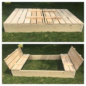 Custom built 4X6 Sandbox with benches