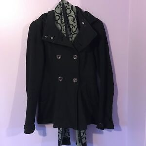 Women's Guess Coat and Scarf - Size Medium