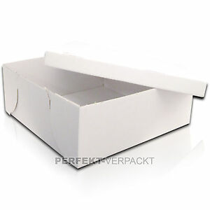 50 Tortenkartons 32x32x12cm SEHR STABIL weiß Tortenschachteln Tortenschachtel