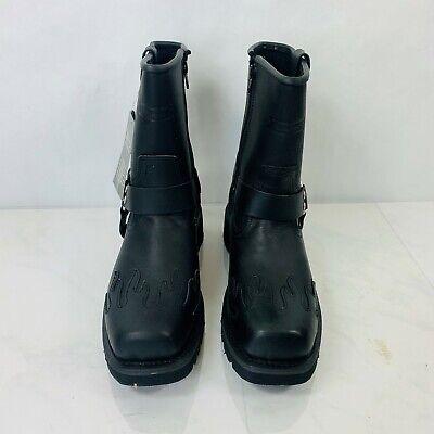 Xelement Super Harness Black Side Zip Leather Boots Men's Size 9M NWOB