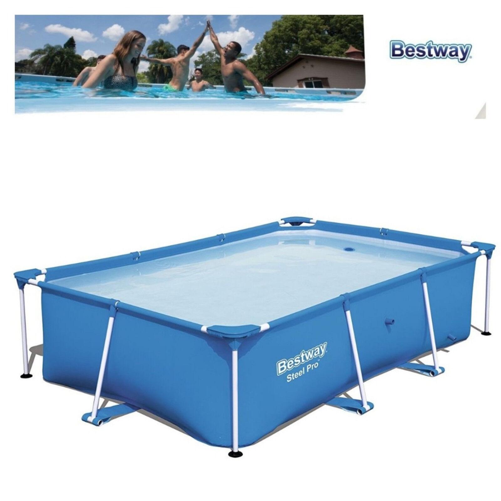 details about intex swimming pool family zinc frame easy set garden pool 3m  x 2m x 0.75m uk