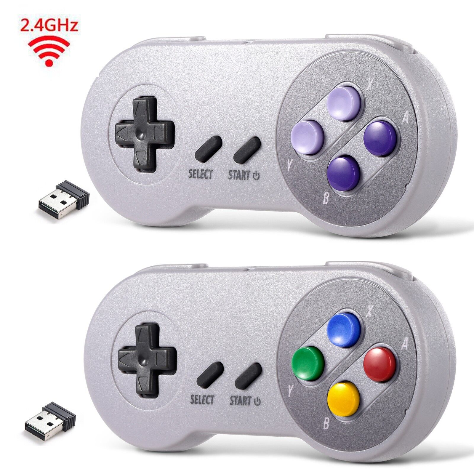 lot-1-2-usb-wireless-snes-controller-gamepad-receiver-for-pc-mac-raspberry-pi