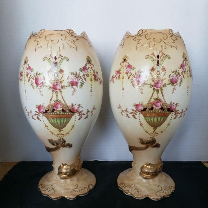 Pair Of Crown Devin Etna Vases