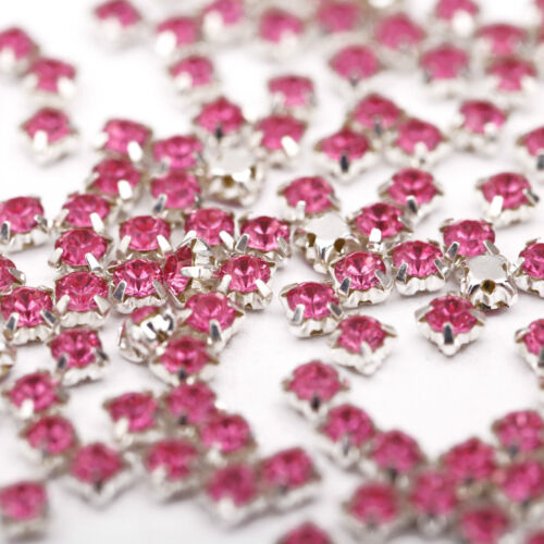 NEW 200pcs Rhinestone Beads Crystal Gemstone Clear Spacer For Jewelry Making 4mm