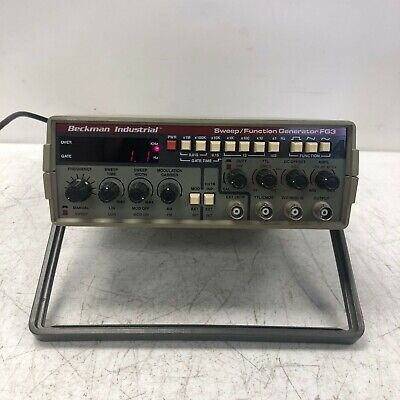 Beckman Industrial Sweep Function Generator Fg3 Tested And Working W Stand