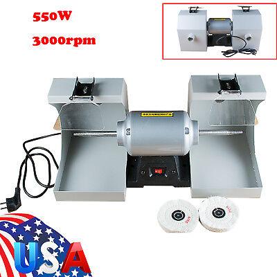 Warranty Bench Lathe Dental Lighting Polishing Polisher Machine 2 Dust Hoods U