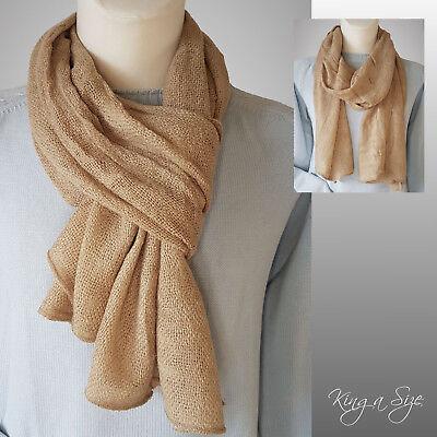 Herren Schal * men's scarf Herrenschal Winterschal Webschal - Sand - HC 3