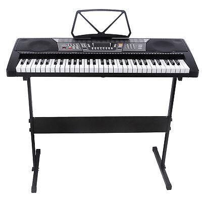 61 Key Music Electronic Keyboard Electric Digital Piano Organ Portable W Stand