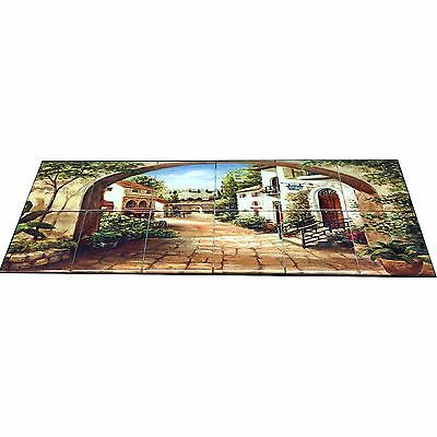 Hangable Tile Mural  / Kitchen Backsplash / Kitchen Art / Tile Art / Spanish Art