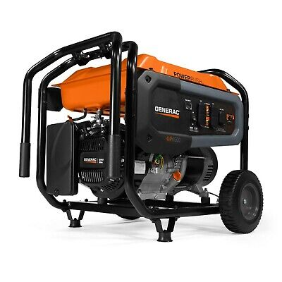 Genarac Gp6500 Portable Generator Power Rush Gasoline Powered With Switch Outlet