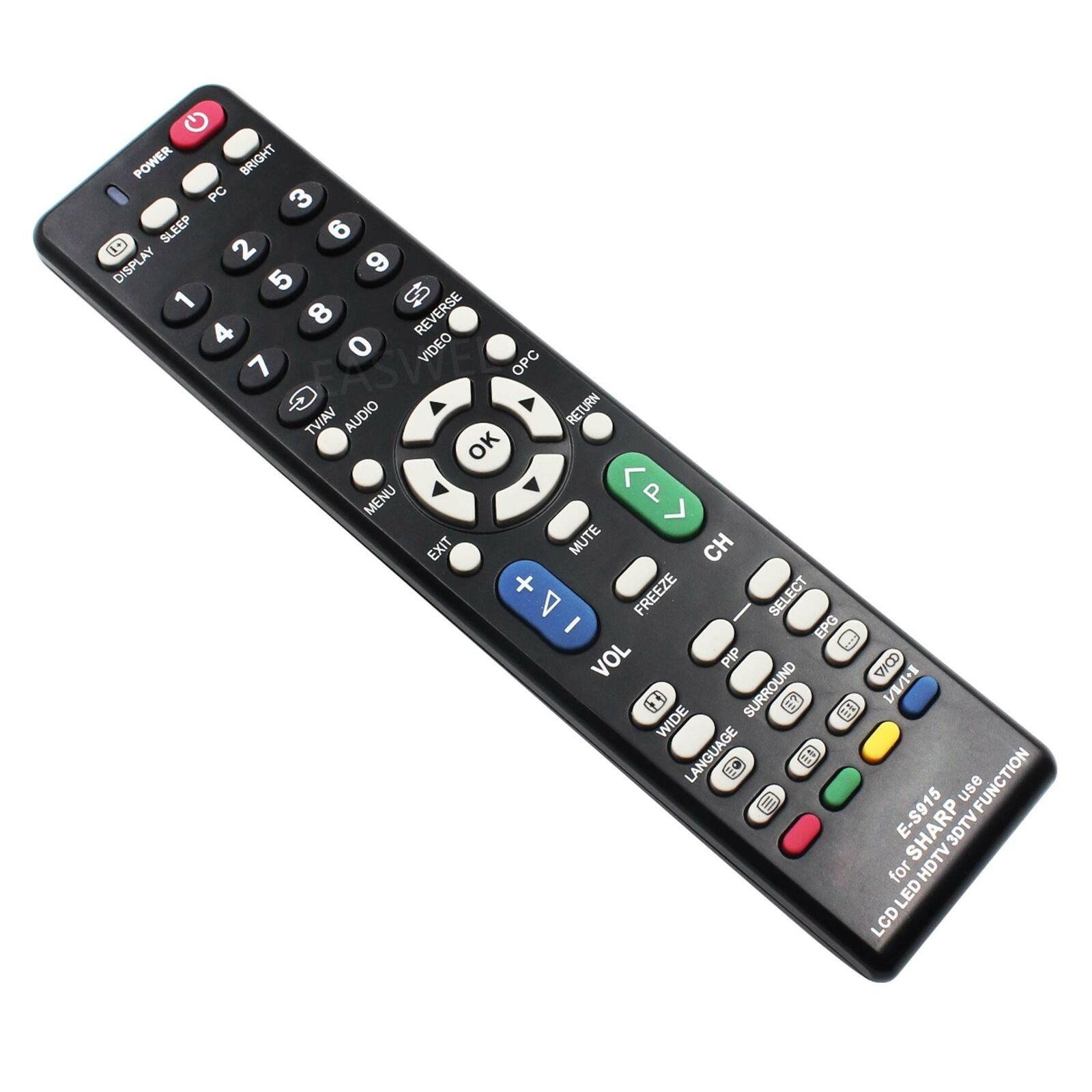 Remote Control for Sharp AQUOS Series LCD LED HD TV Smart 10