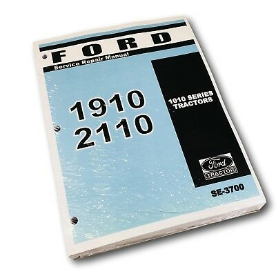 Ford 1010 Series 1910 2110 Tractor Factory Service Repair Manual Shop Book New