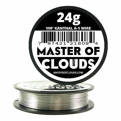 100 Ft - 24 Gauge Awg A1 Kanthal Round Wire 0.51mm Resistance A-1 24g Ga 100