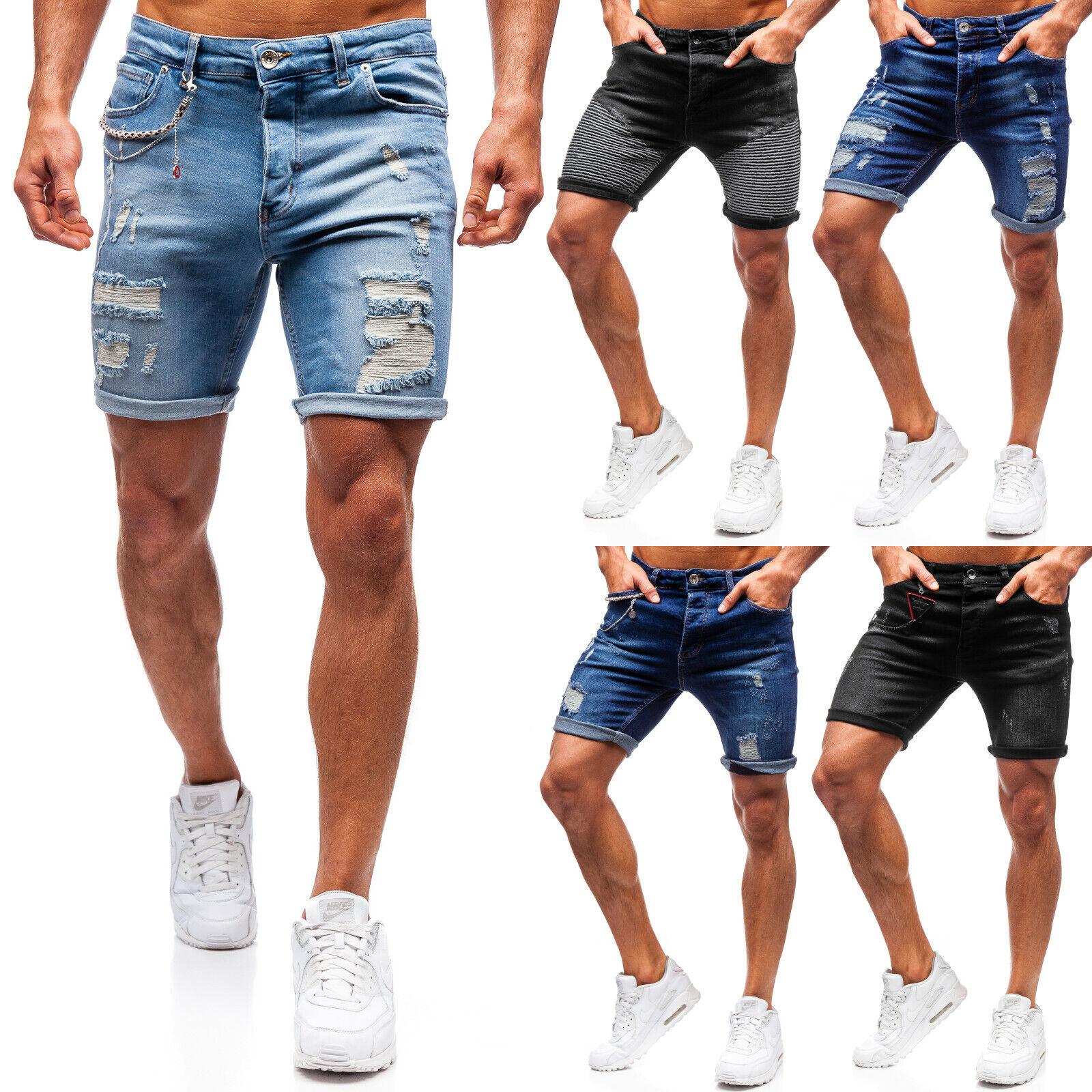 Shorts Jeans Denim Kurzhose Bermudas Sport Freizeit Herren Mix BOLF 7G7 Classic