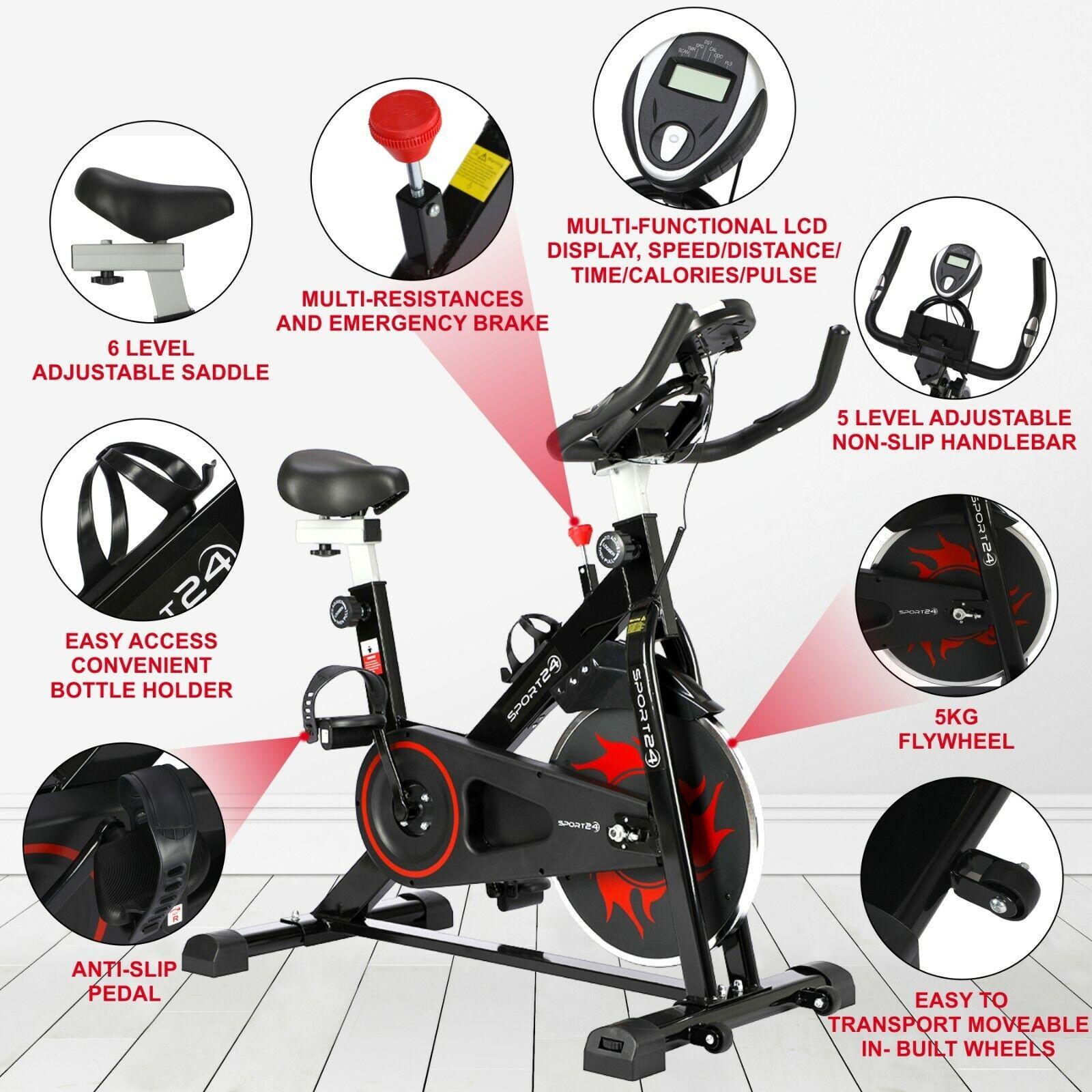 Noir Spinning Exercice Vélo Intérieur Maison Fitness ...
