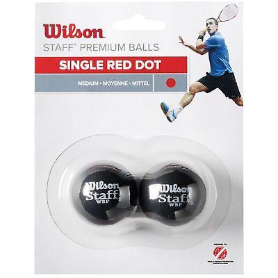 Wilson Staff Red Dot Intermediate Practice Medium Speed Squash Balls - Pack of 2