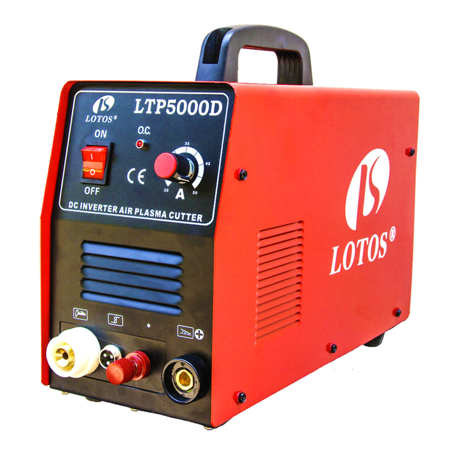 Купить Lotos Technology LTP5000D - Pilot Arc Plasma Cutter Lotos LTP5000D Dual Voltage 50 Amp 110V/220V Compact New