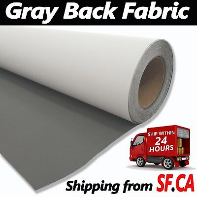 Curl Free Gray Back Fabric Bannergreat For Retractable Banner Stand 63 X 82ft