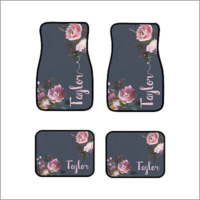 Personalized Car Mat Set (Personalized Custom Car Floor Mats set of 4 Front & Rear or set of 2 Front)