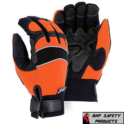 Majestic Insulated Waterproof Windproof Armorskin Mechanics Work Gloves Medium