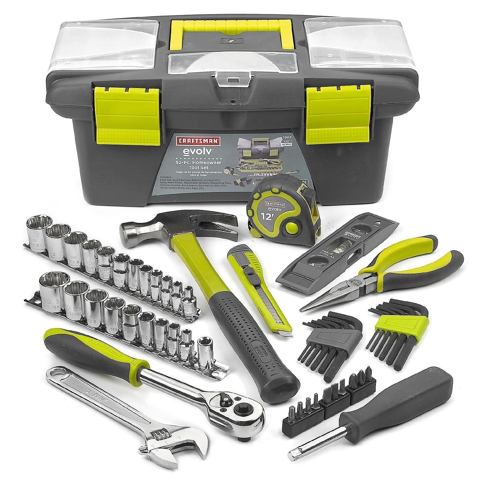 Craftsman evolv 52 piece homeowner tool kit