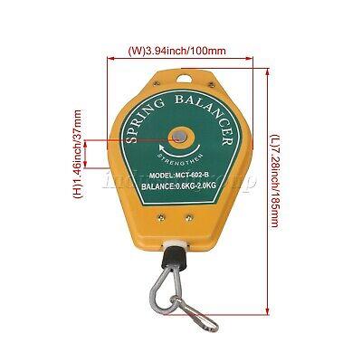 Durable Retractable Spring Balancer Tool Hook Holder Hanging 0.6-2kg