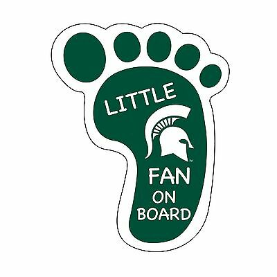 Michigan Board (MICHIGAN STATE LITTLE FAN ON BOARD DECAL-MICHIGAN STATE FOOTPRINT STICKER)